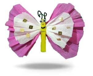 Creare una farfalla con le mollette