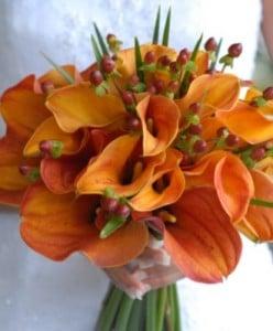 Addobbo floreale arancione