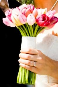 Addobbo floreale con tulipani
