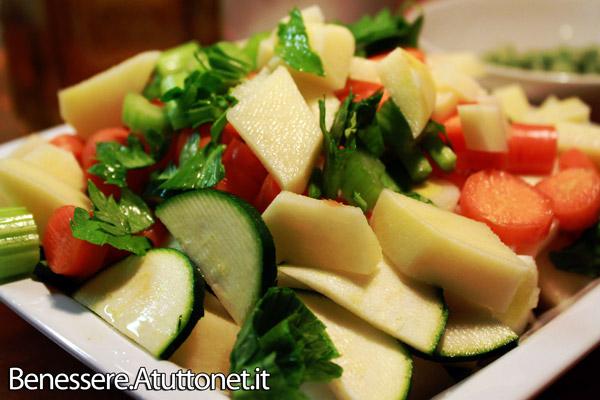 Minestrone di verdure con riso