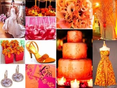 Decorazioni Matrimonio Arancione : Arancione come colore del matrimonio
