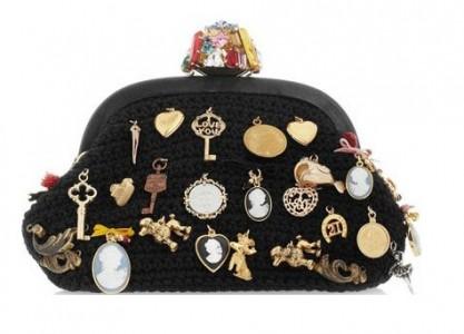 Borsa in lana e charms collezione 2011 2012 di Dolce e Gabbana