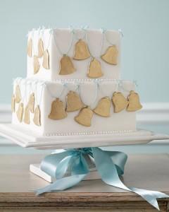 Torta nuziale per matrimonio a Natale
