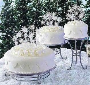 Matrimonio Tema Inverno : Torte nuziali per matrimonio in inverno