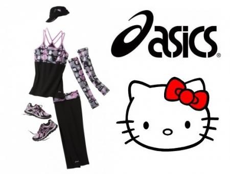 Abbigliamento sportivo Hello Kitty per Asics