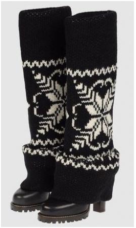 Stivali con gamba in lana per l' inverno di Dolce e Gabbana
