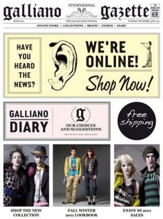 Store online per John Galliano