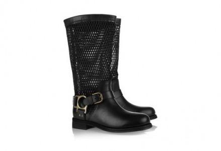 Stivali in pelle da biker di Dolce e Gabbana
