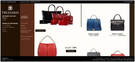 Boutique online per Trussardi