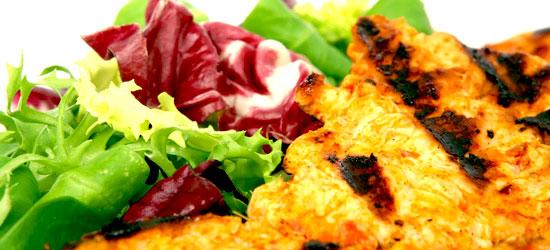 pollo con insalata