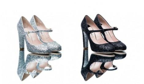 scarpe prada glitter