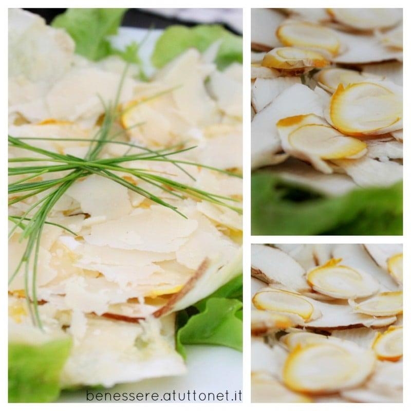 Carpaccio di funghi porcini e ovuli