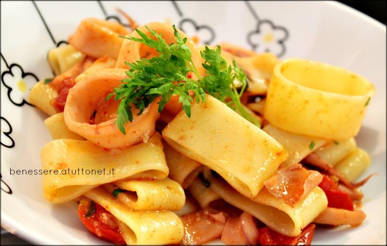Calamarata ricetta light