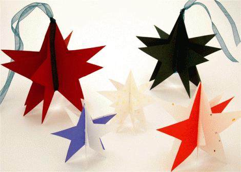 Lavoretti di Natale per bambini: stelle di Natale