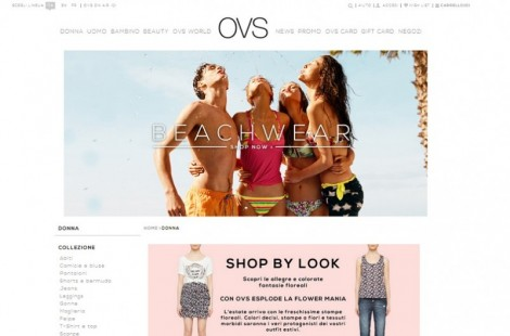 OVS inaugura shop online