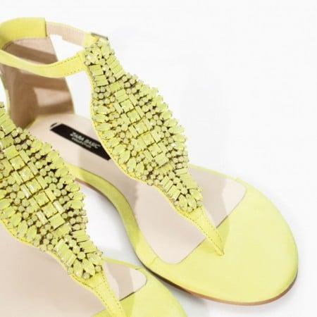 qualità eccellente Regno Unito come serch Zara infradito verde per l' estate 2014