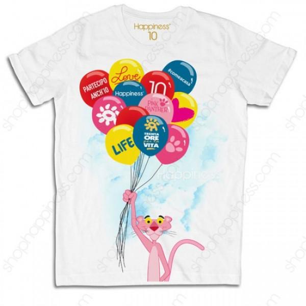 Happiness t-shirt speciale Trenta Ore per la Vita