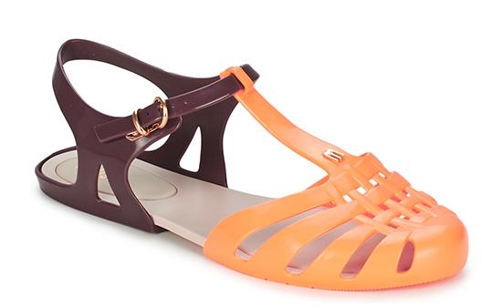 Melissa sandali in gomma bicolore