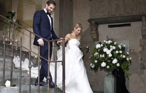 Michelle Hunziker e Tommaso Trussardi sposi