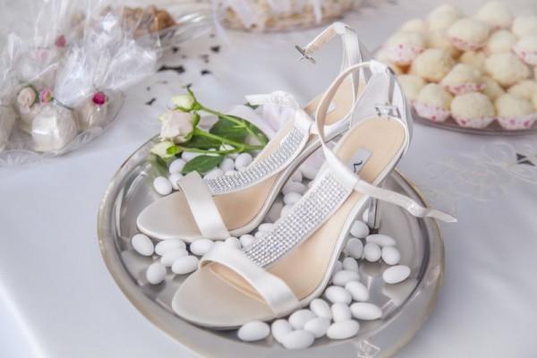 scarpe da sposa confetti