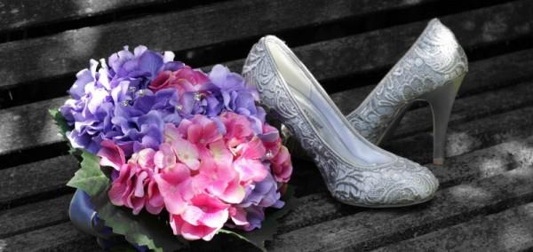 scarpe da sposa fiori