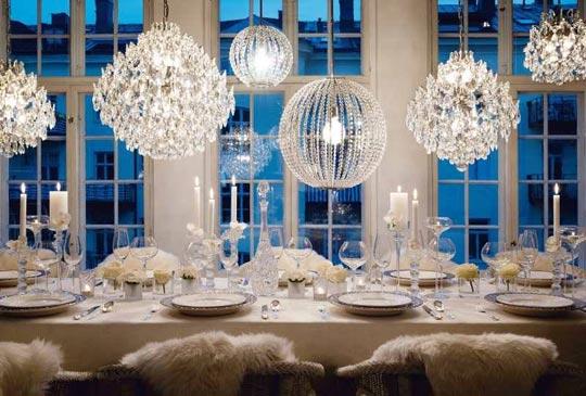 tavola matrimonio inverno