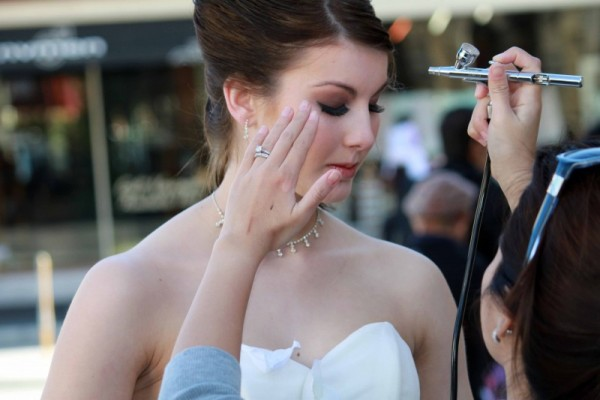 makeup aerografo sposa