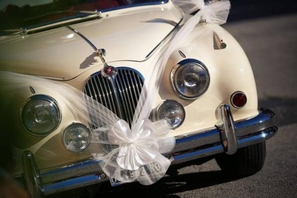 auto matrimonio vintage jaguar