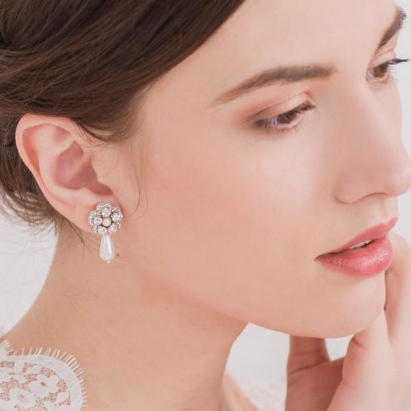 orecchini matrimonio fiore