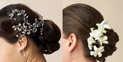 Accessori capelli sposa: fiori elastici