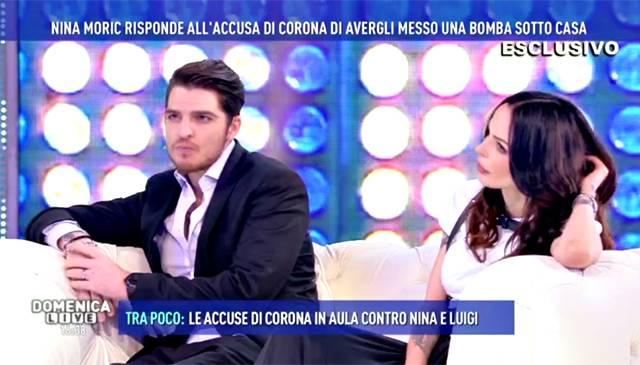 Domenica Live Luigi Favoloso in studio si confessa
