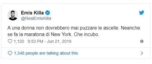 emis killa twitter donne puzza
