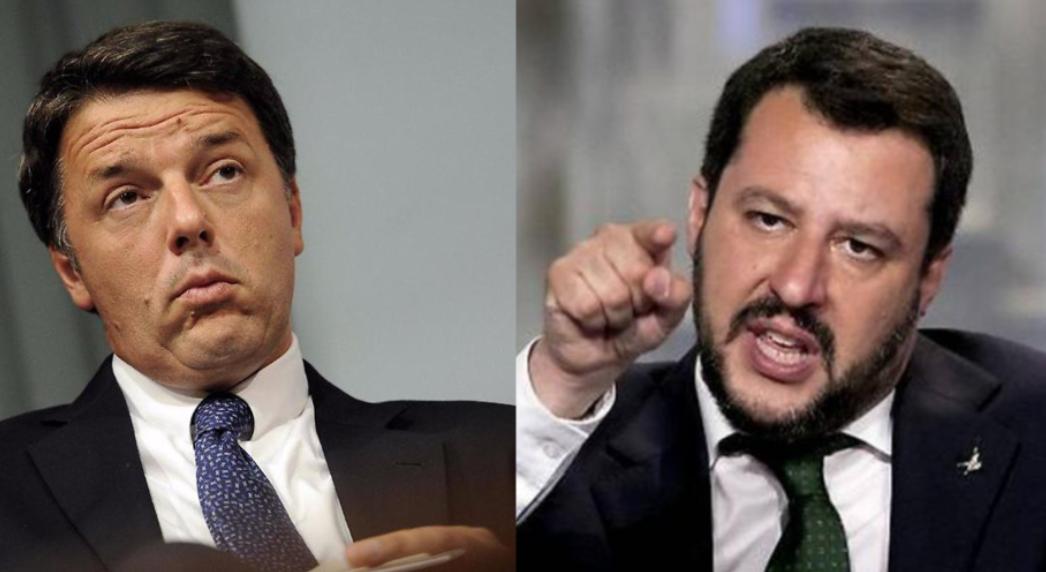 Renzi sfida Salvini in televisione questa sera