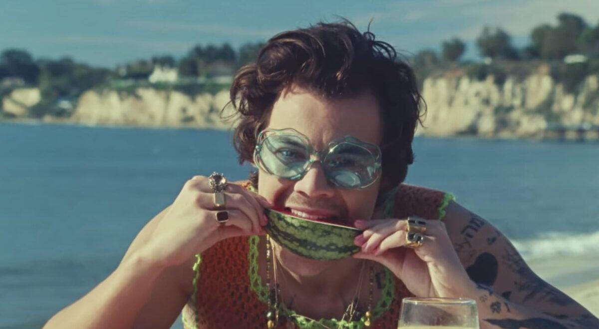 Harry-Styles-Wearing-Pink-Nail-Polish-in-Watermelon-Sugar-Music-Video