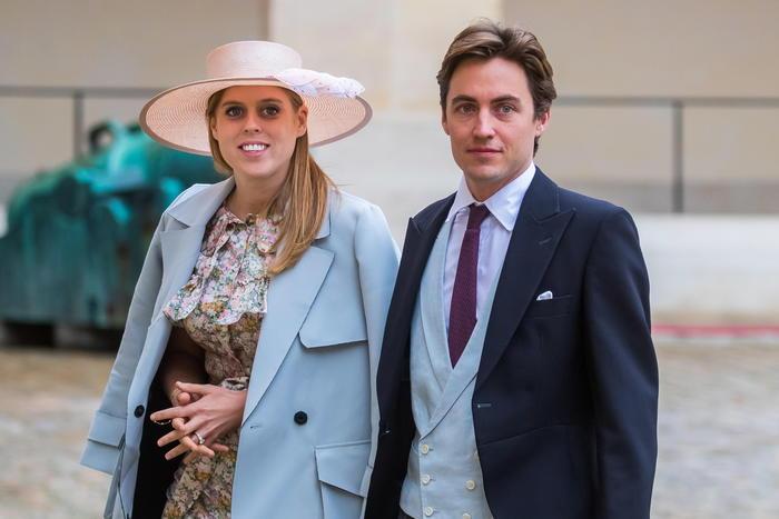Britain's Princess Beatrice of York and her fiance Edoardo Mapelli Mozzi marry
