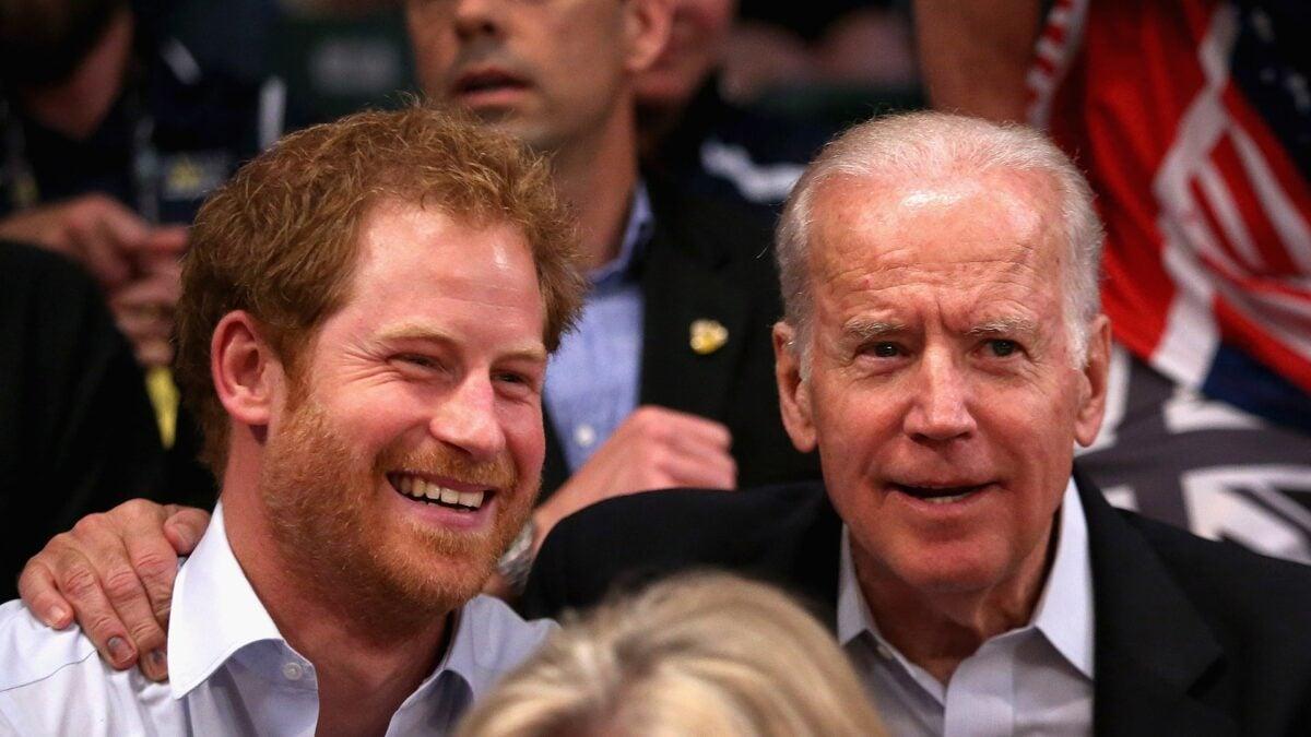 Harry e Joe Biden