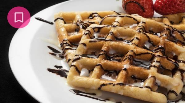 Waffles al cacao