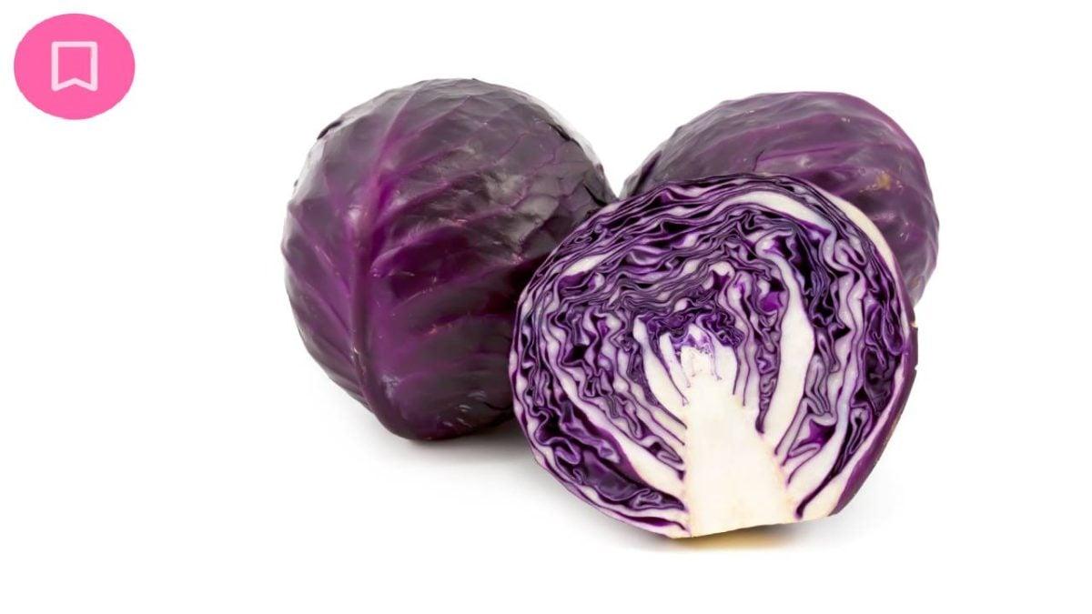 Cavolo verza in insalata in noci