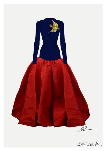 Lady Gaga in Custom Schiaparelli Haute Couture 2