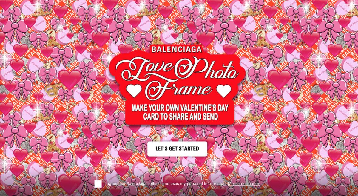 Balenciaga: collezione esclusiva per San Valentino