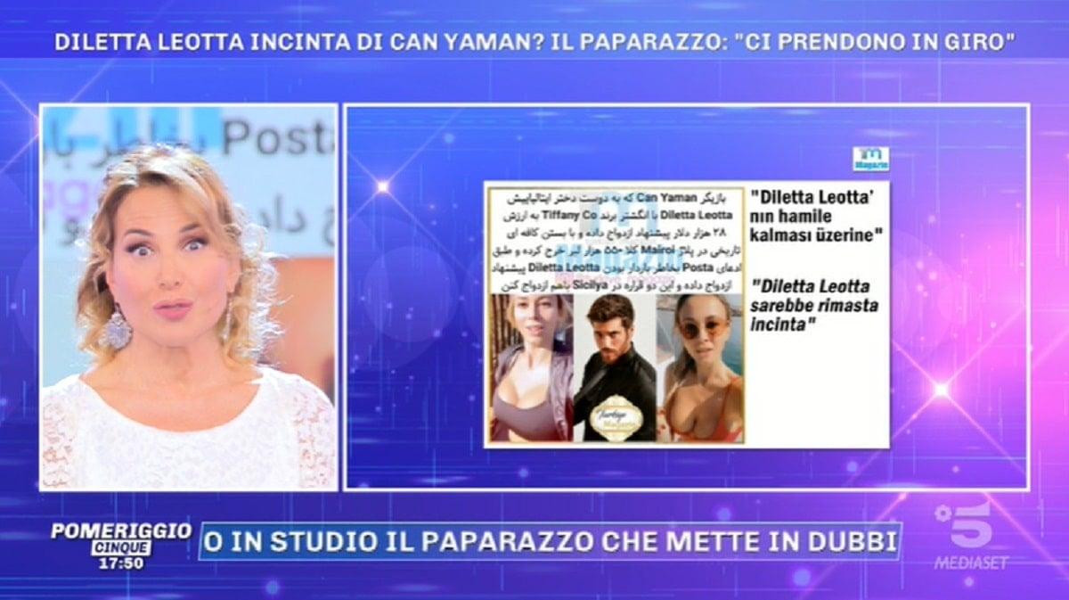 Pomeriggio 5, Barbara d'Urso svela: Leotta incinta?