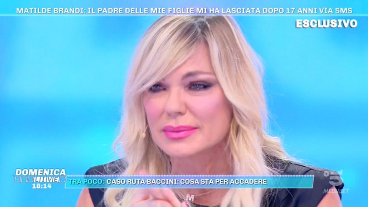 Domenica Live, il dramma di Matilde Brandi