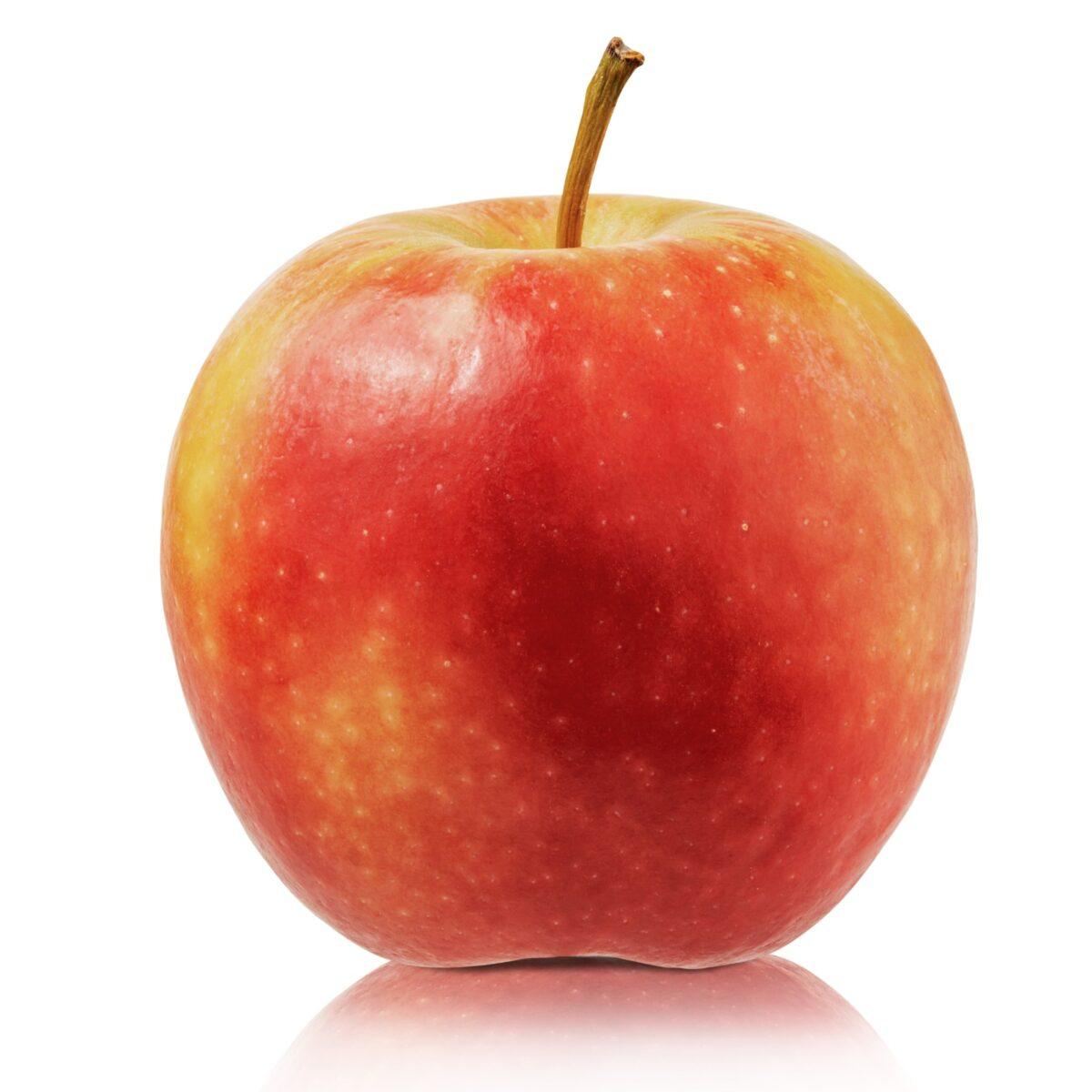 Nella foto è ritratta una mela rossa