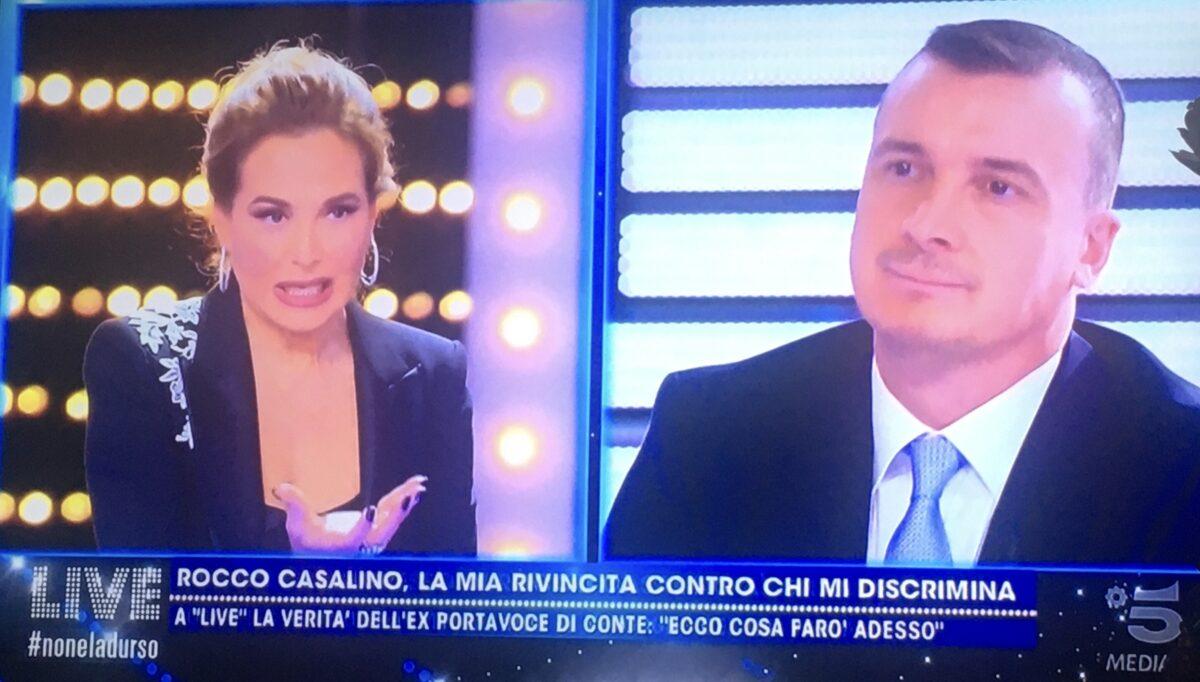 """Live Non è la d'Urso, Casalino: """"Barbara ci facevi paura"""""""