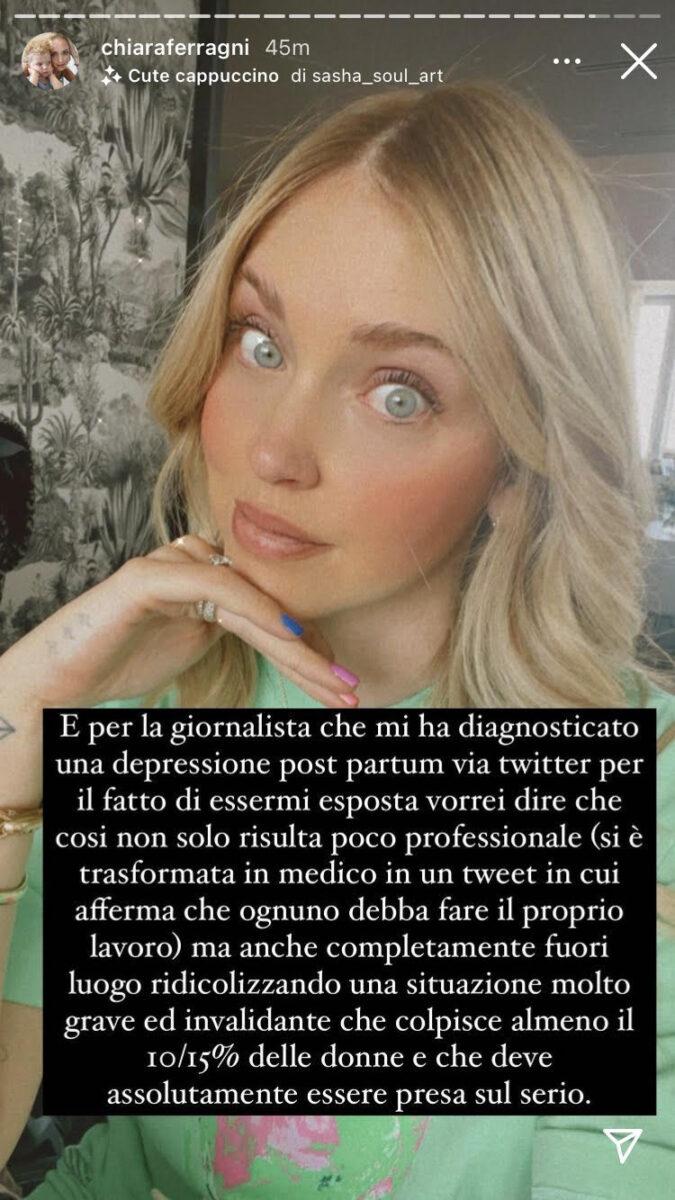 19.00 – Chiara Ferragni risponde alla giornalista che vuole sminuirla