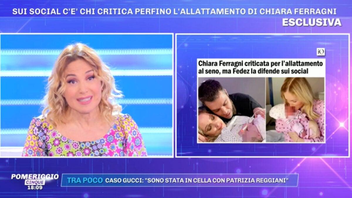 Barbara d'Urso: Chiara Ferragni e quel messaggio di Ludovica Valli