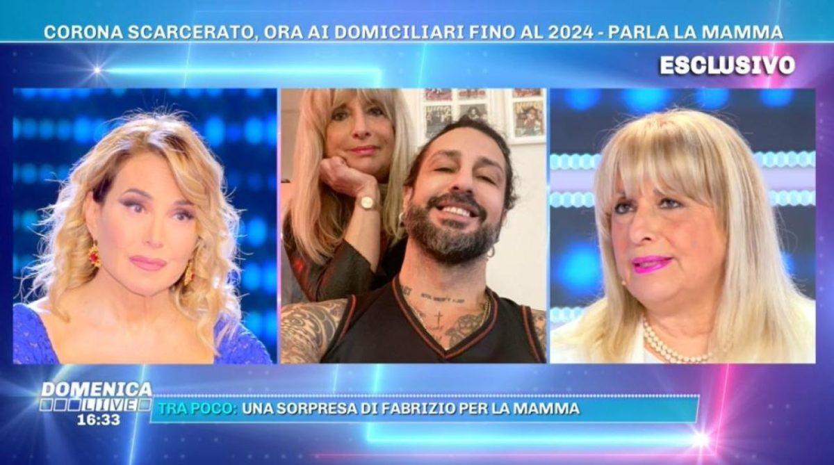 Domenica Live: Fabrizio Corona vittima dei giudici?