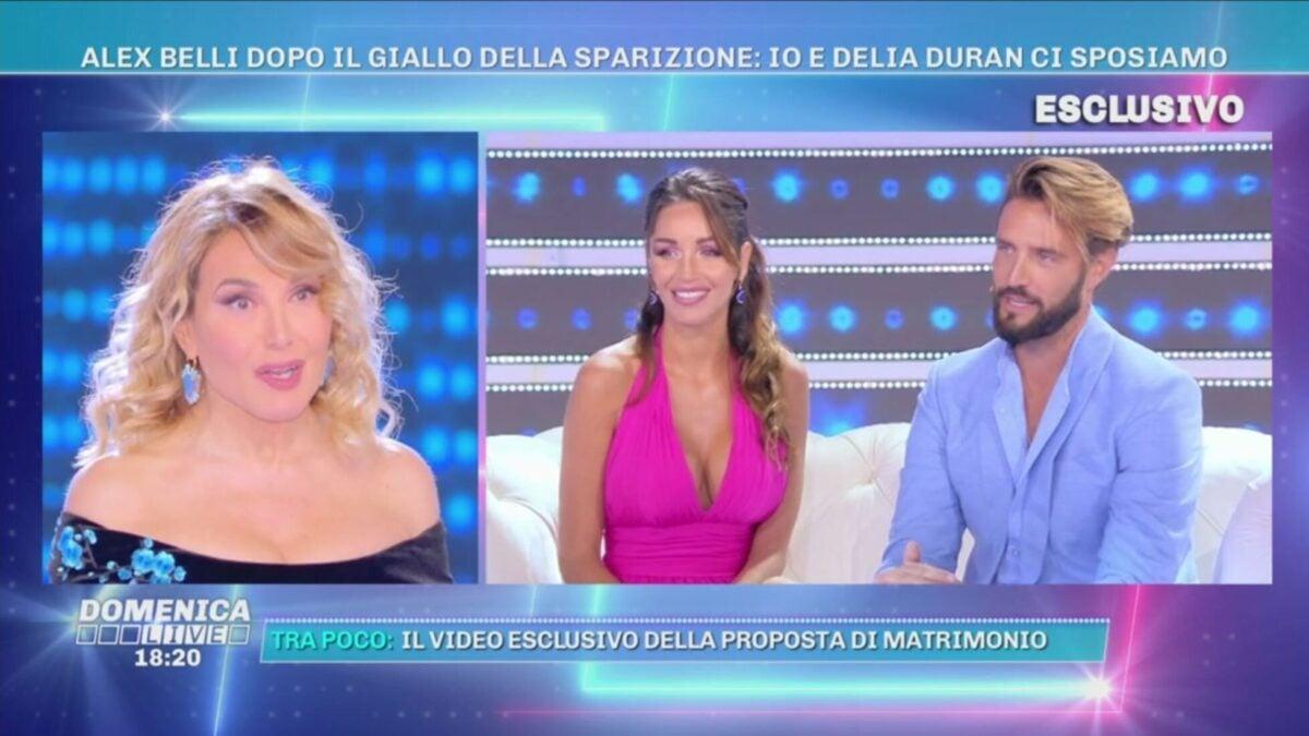 Domenica Live, la d'Urso esulta: felice per le nozze di Alex Belli