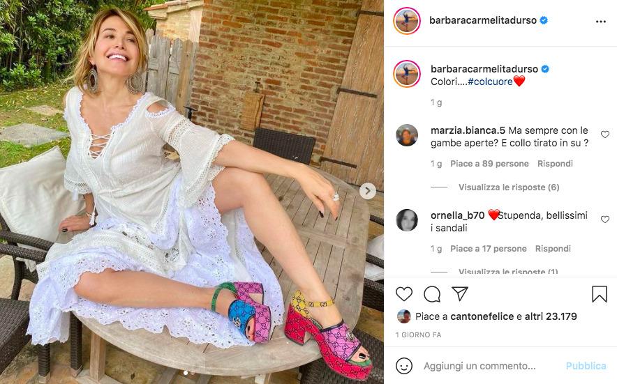 Barbara D'Urso, scarpe extralusso: brand e quanto costano