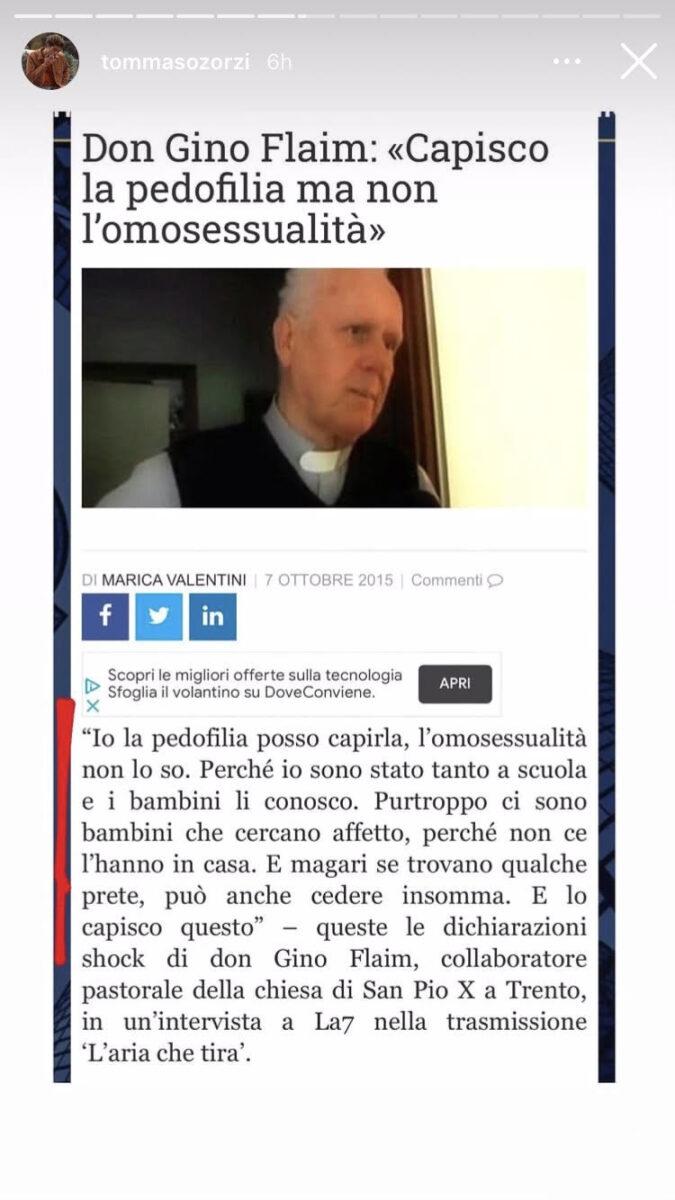 21:00 – DDL Zan: l'attacco al Vaticano di Tommaso Zorzi